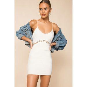 Superdown Brooklyn Mini Dress White Medium